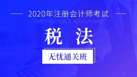 2020年注册会计师课程+题库-税法