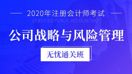 2020年注册会计师课程+题库-公司战略与风险管理