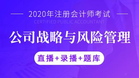 2020年注册会计师-公司战略与风险管理(直播+录播+题库)