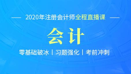 2020年注会会计习题强化第五讲