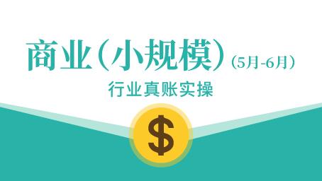 商业(小规模)真账实操(5-6月)