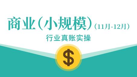 商业(小规模)真账实操(11-12月)
